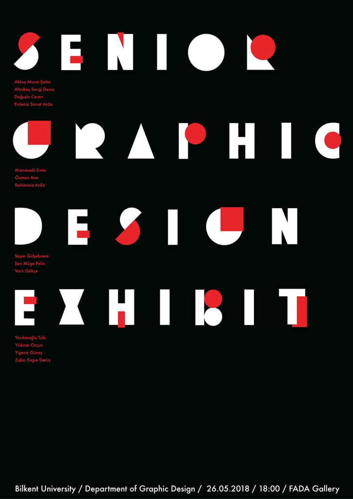 Senior Graphic Design Exhibition '18